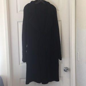 Michael Stars black long sweater coat sz M